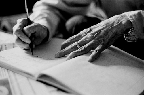 Grandpa Writing